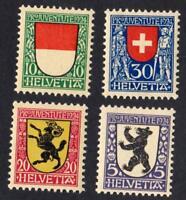 SUISSE-   N°: 214 /217  NEW-YEAR 1924  CV : 6 €
