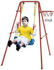 Livebest Single Swing Set Seat Playset Basketball Toys Activity Outdoor Gift