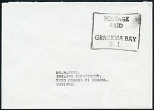 BSIP SOLOMON ISLANDS OFFICIAL PAID GRACIOSA BAY to KING GEORGE VI SCHOOL HONIARA