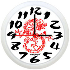 """Chinese Dragon Wall Clock, 9"""" in"""