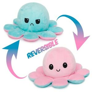 Double-Sided Flip Reversible Octopus Plush Toy Squid Stuffed Doll Toys Fun Gift