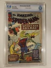 AMAZING SPIDER-MAN #24 CBCS 5.5 (like CGC) OW PAGES MYSTERIO APPEARANCE 1965