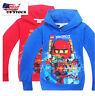 Boys Lego Ninjago Pull Over Hoodie Sweatshirt Jacket Halloween Costume O8B