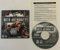 WWF WITH AUTHORITY PC CD-ROM VIDEO GAME Wrestling Exclusive William Regal - VHTF