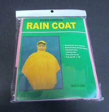 Children's Rain Coat with Hood One Size Fits All - Pink