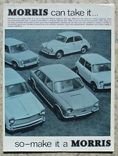 MORRIS CAR RANGE Car Sales Brochure 1968 #2442 MINI COOPER Minor OXFORD 1800 ++