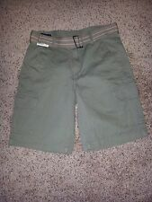 NWT Basic Editions Men's Belted Cargo Shorts - Olive Green - Size 30