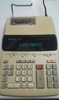 Vintage Sharp Printing Calculator Model EL-2192R 12 digit, 2 color, works great