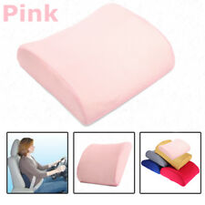 Pink Lumbar Cushion Back Support Travel Pillow Foam Car Seat Home Office Chair
