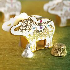 12 Gold Elephant Candy Boxes Wedding Shower Party Favors MW36908