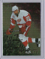 Martin Lapointe 1998-99 Be A Player Auto Gold #198