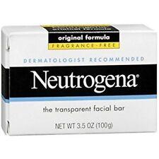 Neutrogena Transparent Facial Wash & Cleanser Bar Soap - Fragrance Free 3.5 oz.