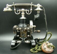 "MOST BEAUTIFUL ANTIQUE L.M. Ericsson Skeletal Desk Telephone ""Eiffel Tower"" RARE"