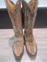 NEW Johnny Ringo Brown Ladies' Western Boots # 81302 White Embroidery Stitching
