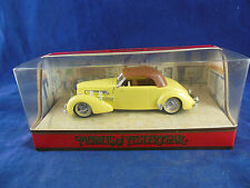 Matchbox Yesteryear Y18 1937 Cord in Yellow with Tan Hood Ex Shop Stock