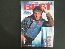 BEST N°204 JUIL. 1985 BRUCE SPRINGSTEEN  POSTER DIRE STRAITS / INDOCHINE TTBE