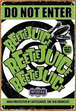 BEETLEJUICE - DO NOT ENTER - 8 x 11.5 TIN SIGN BRAND NEW - MOVIE 30110