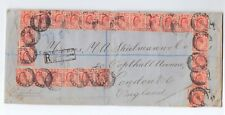 TRANSVAAL - LARGE REG. COVER TO UK FRANKED 25 x EDVII 1d