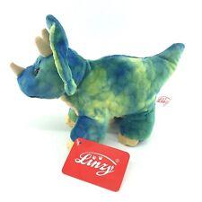 Linzy Stuffed Animal Dinosaur Triceratops Stuffed Animal 9 Inch Plush NEW -p