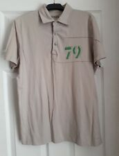 beige polo t shirt size M by Debenhams