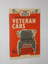 """Laurence H. Cade The Genuine """"Gen"""" On Veteran Cars. The Motor World. 1958."""
