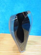 Joseph W Becker 1995 Frosted Deep PURPLE  Glass vase / Statue / Art Glass