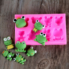 Frog Silicone Fondant Mold DIY Cake Chocolate Candy Bakeware Tools Resin Craft