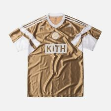 KITH X ADIDAS SOCCER MATCH JERSEY RAYS AWAY GOLD SIZE XL NWT