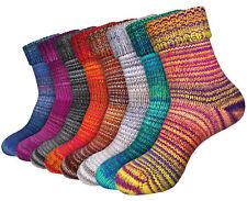 2 Paar Warme Norweger Socken Wintersocken farbige Stricksocken Damen & Herren