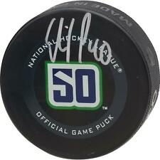 Elias Pettersson Vancouver Canucks Signed 50th Anniversary Season Official Puck