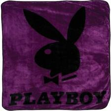 Playboy Classic Bunny Purple Queen Size Plush Throw Blanket