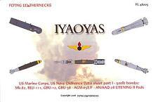 Flying Leathernecks Models 1/48 U.S. MARINE CORPS & U.S. NAVY ORDNANCE DATA