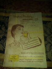 VINTAGE MURFREESBORO, TENNESSEE 1958 JUNE TELEPHONE DIRECTORY YELLOW PAGES