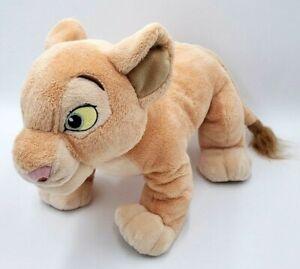 "Disney Parks Authentic 14"" Plush The Lion King Nala Stuffed Animal Soft Cat Tan"