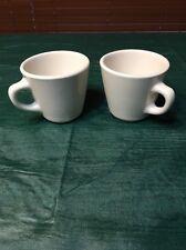 Homer Laughlin Best China White Restaurant Diner Coffee Cup Mug Set Of 2
