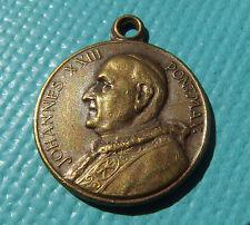 POPE JUAN XXIII MEDAL OLD CATHOLIC VATICAN PENDANT FOUND