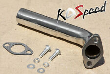 UNIVERSAL STAINLESS STEEL TURBO DUMP PIPE FOR 35/38MM WASTEGATE 45 DEGREE ANGLE