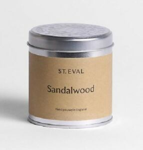 St Eval Sandalwood Scented Candle in a Tin