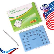 Dental Orthodontic Self-Ligating Metal Brackets Mini Roth 0.022 Hooks 3-4-5
