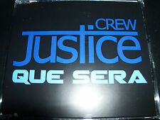 Justice Crew Que Sera Australian Limited Poster Pack CD Single - New