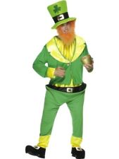 Leprechaun Fancy Dress Costume Irish St Patricks Outfit Hat Beard Smiffys 26148