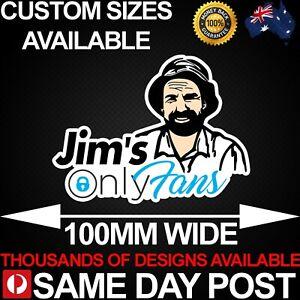 JIMS ONLYFANS 100mm Wide Vinyl Car Sticker Decal Funny Meme Cheap