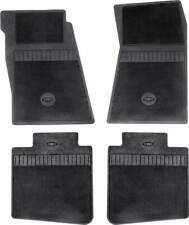 1967-69 Camaro, 68-74 Nova 4 Piece Black Rubber Bow Tie Floor Mat Set