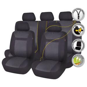 Car Seat Cover Jacquard Universal set  Airbag Compatible Black For SUV VAN Sedan