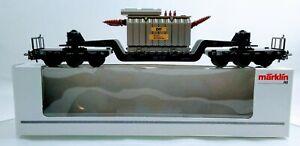 "Marklin HO 4617 (DB) Low Loading Articulated Flat Car w/ Transformer Load ""EVS"""
