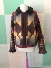 TASHA POLIZZI  Saddle Blanket & Co Size Medium Fur trim Western Cowgirl Jacket