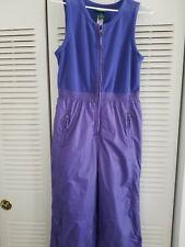 """Snowsuit Purple Blue Youth sz 16 Ski Suit Snow Bib pants 28"""" Inseam"""