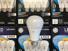 96 PACK GE LED 60W = 10W Soft White DIMMABLE 60 Watt Equivalent A19 2700K E26