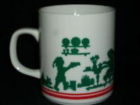 Avon 1984 Mrs. Claus Christmas Coffee Mug Green Holiday Collectible Cocoa