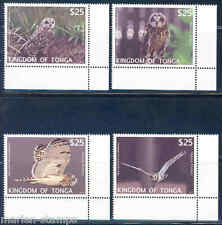TONGA  2012  'OWLS '  SET MINT NH THESE HAVE EXTREMELY HIGH FACE VALUE